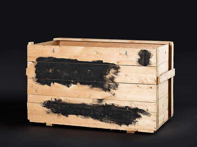 Transport crate belonging to the Surma family